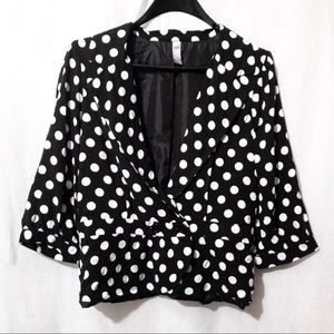 Anthropologie's Alya black white polka dot blazer